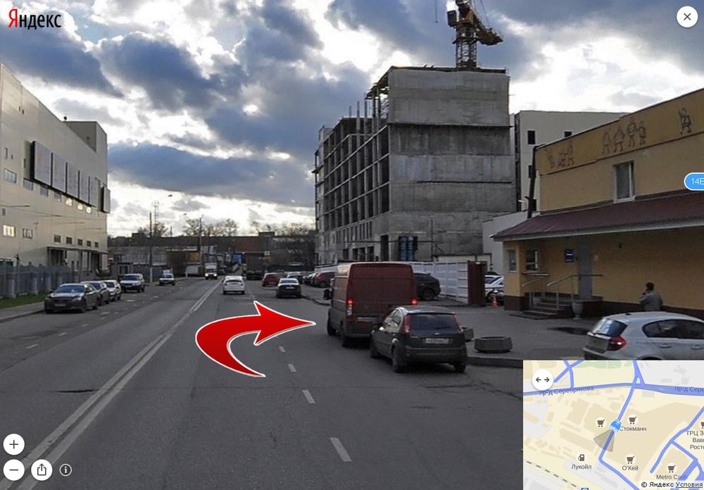 Интерактивная схема проезда: